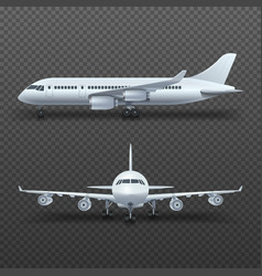 Realistic 3d detail airplane commercial jet vector