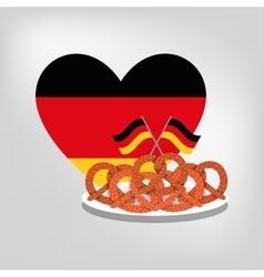 Pretzel german bread vector image