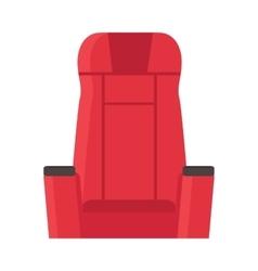 Cinema red velvet chair isolated on white armchair vector