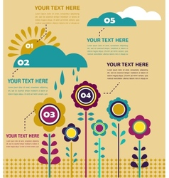 Infographics with flowers at spring season vector