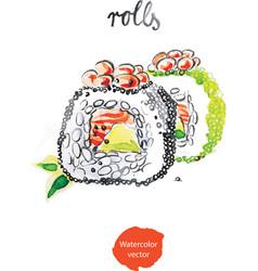 Watercolor rolls vector