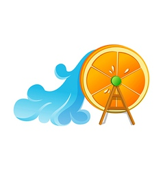 Icon orage and wavewheel vector