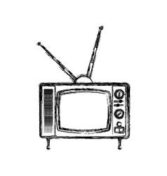 Old television media vector