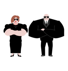 Bodyguard marrieds family husband and wife in vector