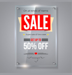 Fifty percent holiday discounts iformation on vector