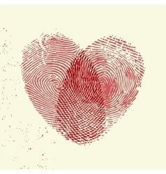 Fingerprint heart vector