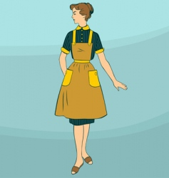 retro woman vector image