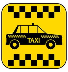 Taxi button vector image