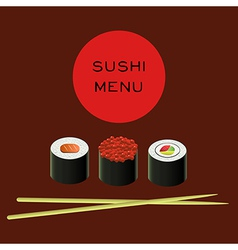 Sushi bar menu template vector