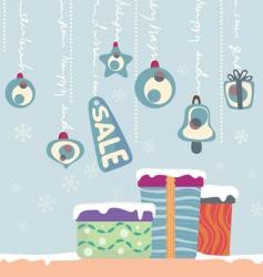 Christmas gift and balls vector image