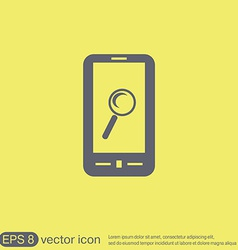 Smartphone magnifying glass vector