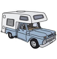Old small caravan vector image