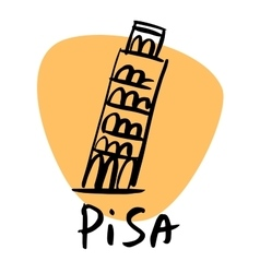 Pisa italy leaning tower vector