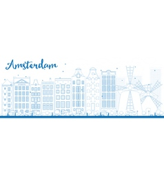 Amsterdam outline vector