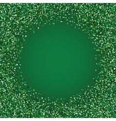 Glitter green round frame vector image