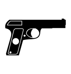Pistol simple icon vector
