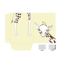Template for folder with of giraffe vector