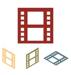 Movie sign set vector