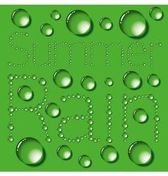 Water drop words on green vector