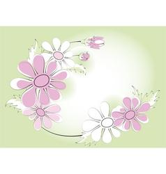 Chamomiles vignette vector image