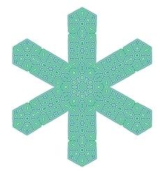 Creative ornamental green pattern vector