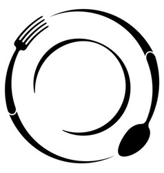 abstract logo of a cafe or restaurant a spoon and vector image