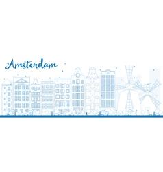 Amsterdam outline vector