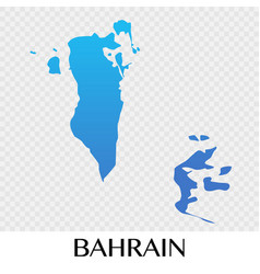 Bahrain map in asia continent design vector