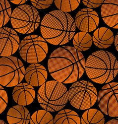 Basketball halftone gradient seamless pattern vector