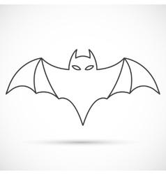 Bat outline icon vector image