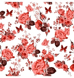 Beautiful Seamless Roses Background vector image vector image