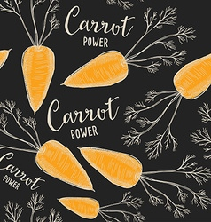 Carrot seamless pattern background vector image vector image