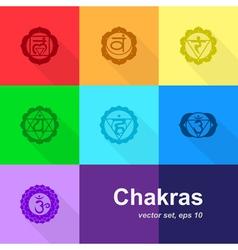 chakras 3 vector image