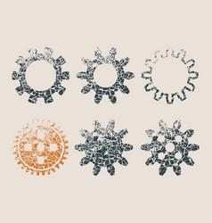 cog wheel icons vector image vector image
