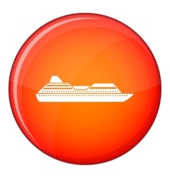 Cruise liner icon flat style vector