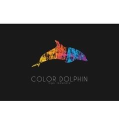 Dolphin logo Water logo Creative logo design vector image vector image