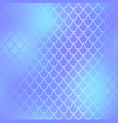 Fish skin seamless pattern mermaid scale vector