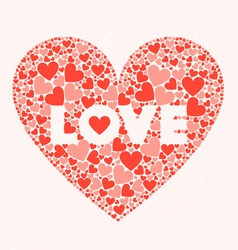 LOVE Valentines Day Card vector image vector image