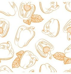 Monochrome seamless pattern of paprika vector image
