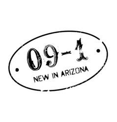 New in arizona rubber stamp vector
