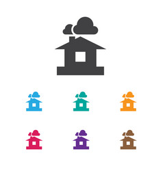 of air symbol on shelter icon vector image