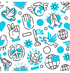 Peace blue love world freedom international free vector