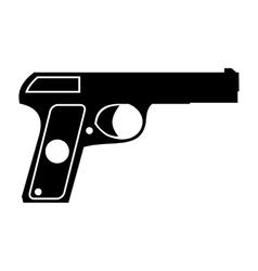 Pistol simple icon vector image