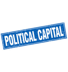 Political capital square stamp vector