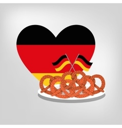 Pretzel german bread vector