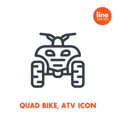 quad bike line icon all terrain vehicle atv vector image vector image