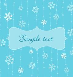 Retro snowflakes card in blue vector