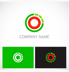 Round line target technology logo vector