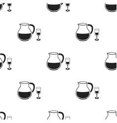 sangria icon in black style isolated on white vector image vector image