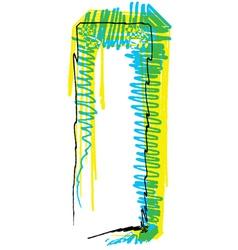 Sketch font Letter I vector image vector image